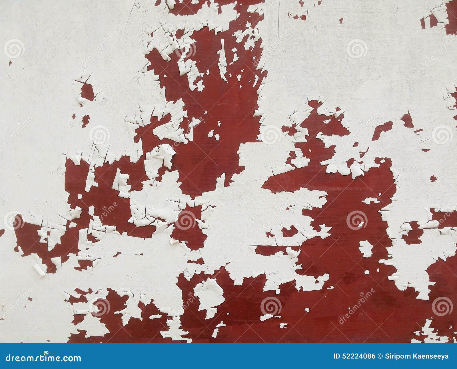 Rdzewiejąca białego metalu ściana pęka tekstury tło