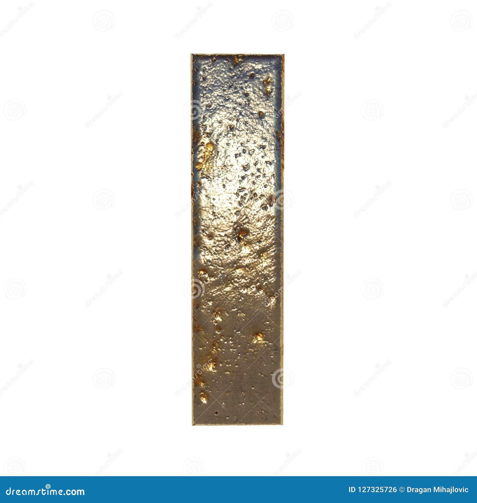 Rdzewiejący metalu list Ja