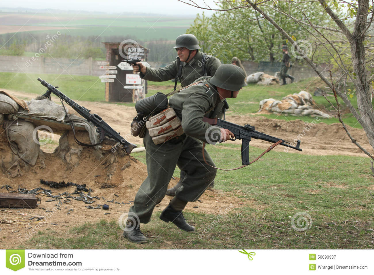 Re-enactment of the WWII Battle at Orechov