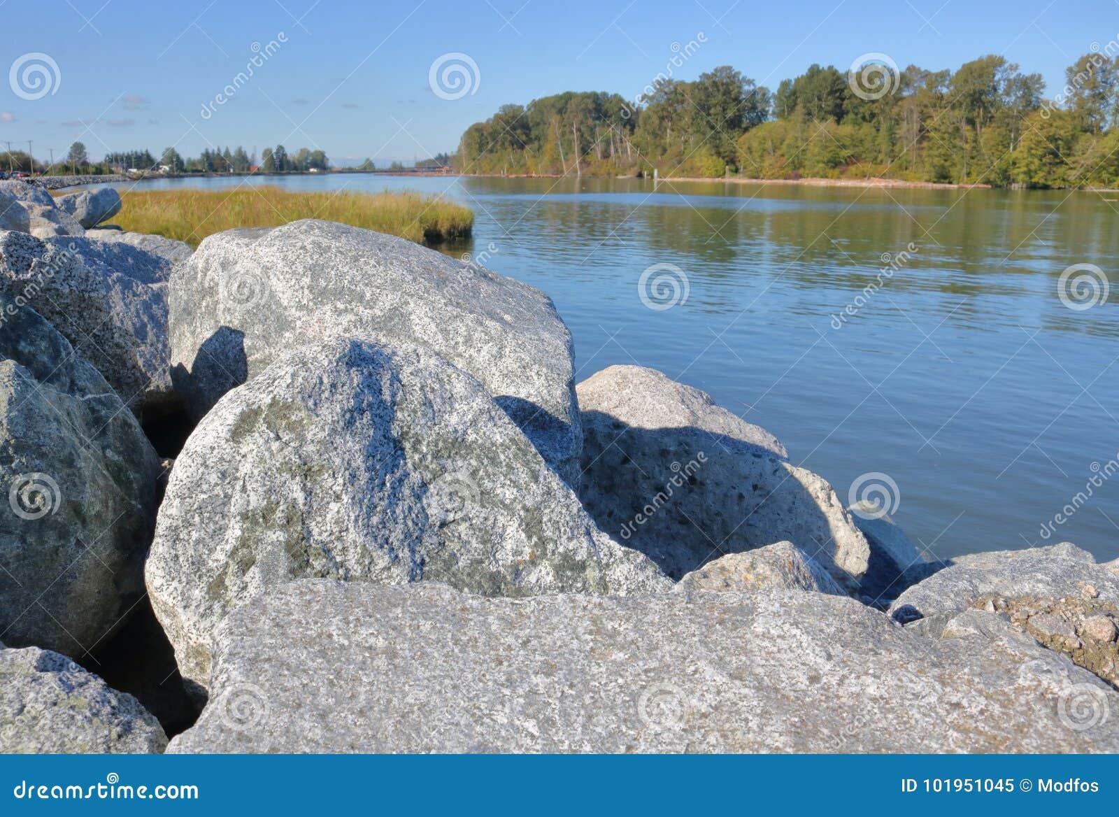 Re-hacer cumplir Riverbank y la línea de la playa
