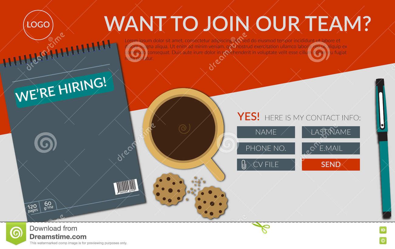 now hiring join our team stock illustrations  u2013 253 now