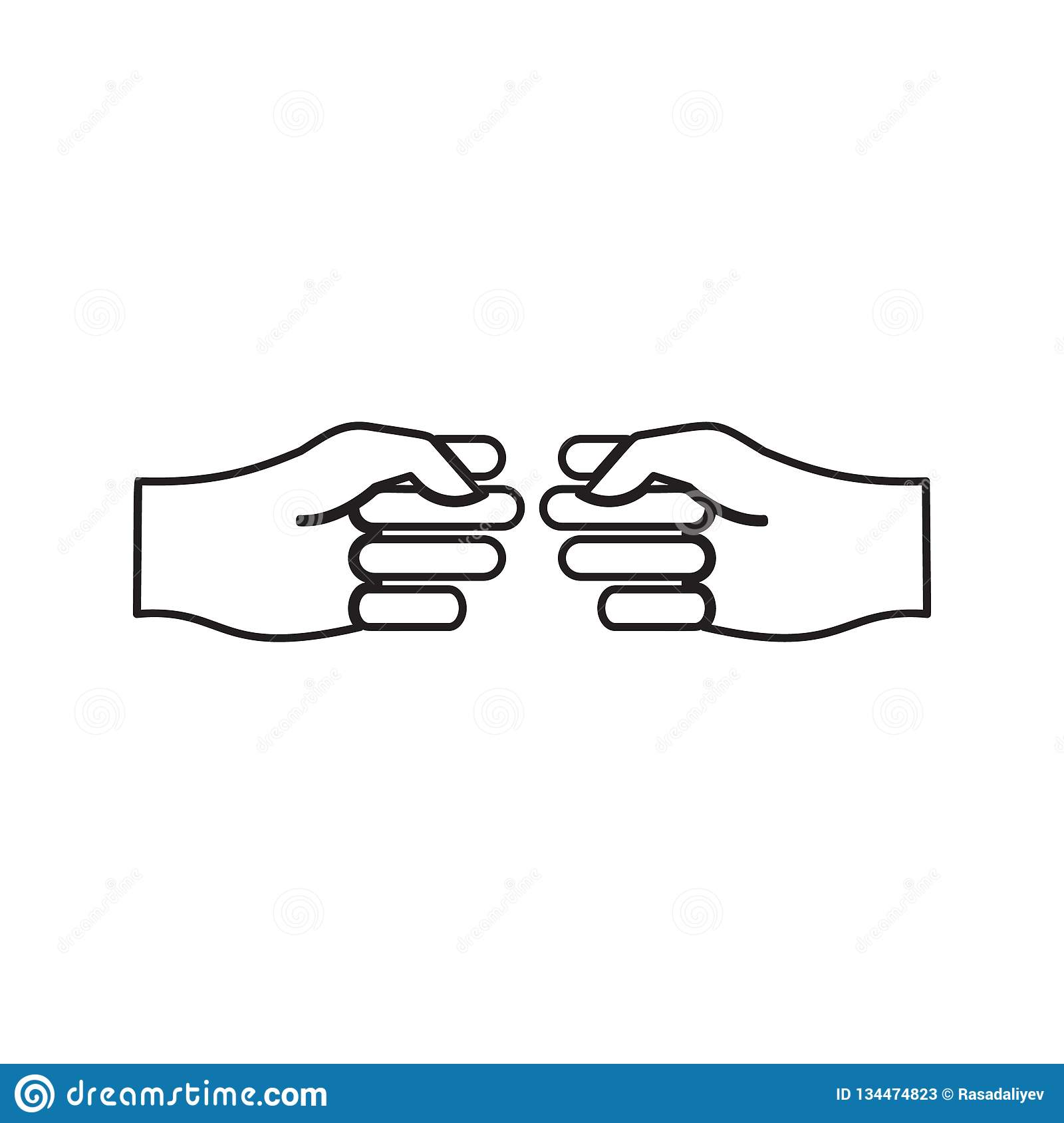 Reach out icon. Element of Conversation and Friendship for mobile concept and web apps icon. Thin line icon for website design and. Development, app development royalty free illustration