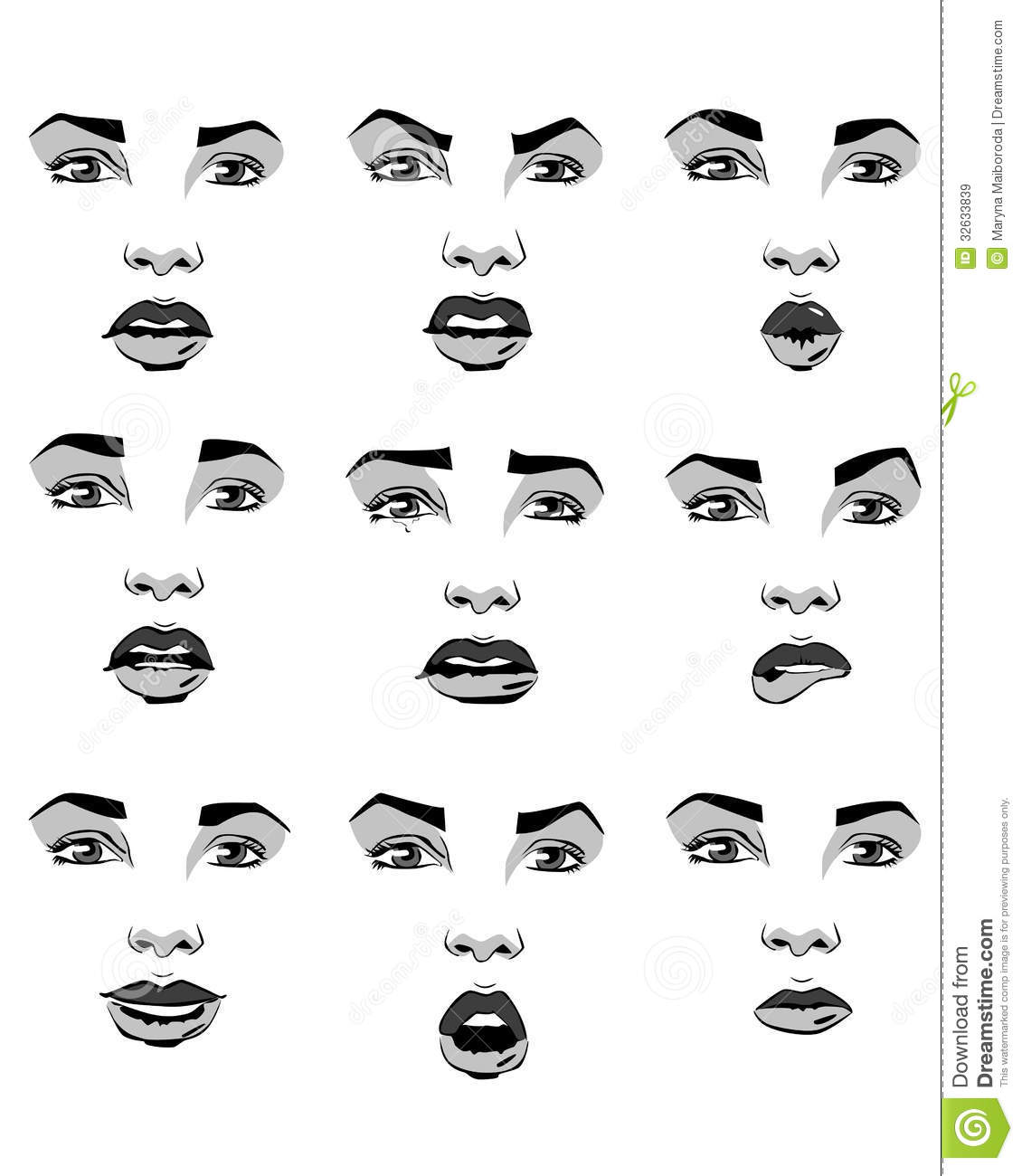 Clipart Of Facial Emotions