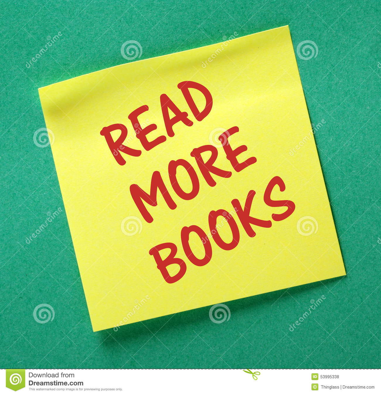 Read more books reminder stock photo image of growth for More com