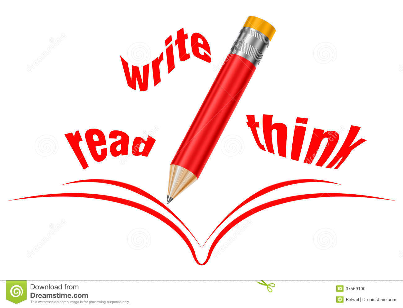 Read Write Think Stock Photo Image 37569100
