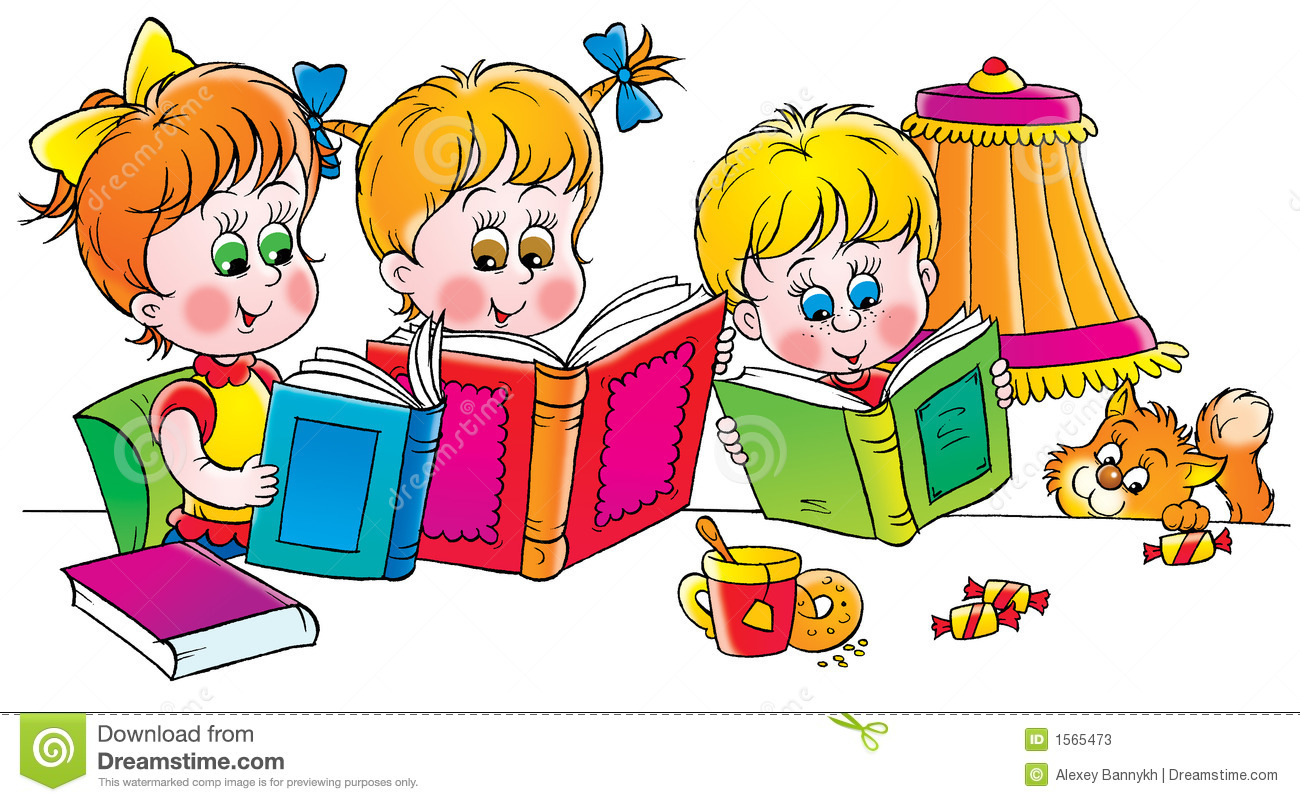 Readers Stock Illustration Image Of Brother Clipart