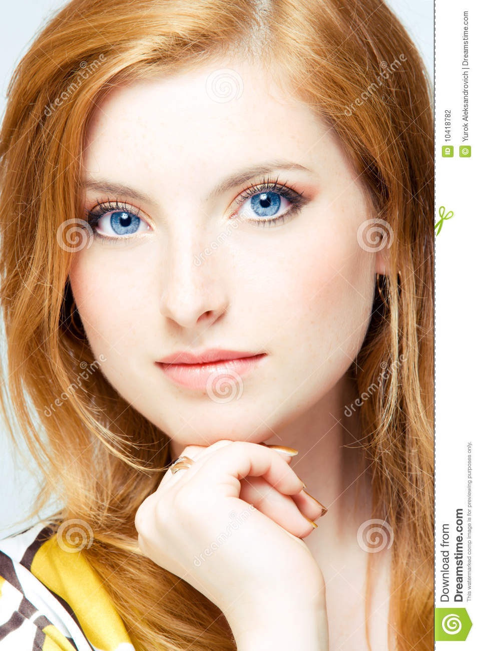 Readhead portrait stock photo image of beauty make 10418782 readhead portrait voltagebd Images
