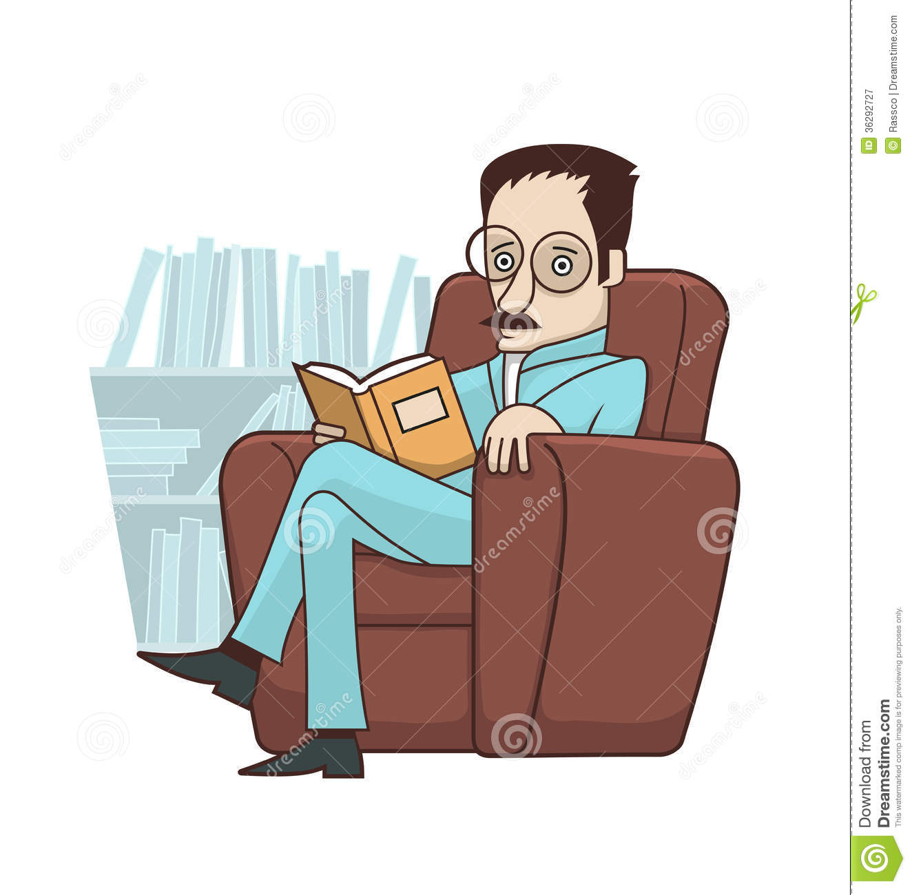 Reading Book In Armchair Royalty Free Stock Photography ...