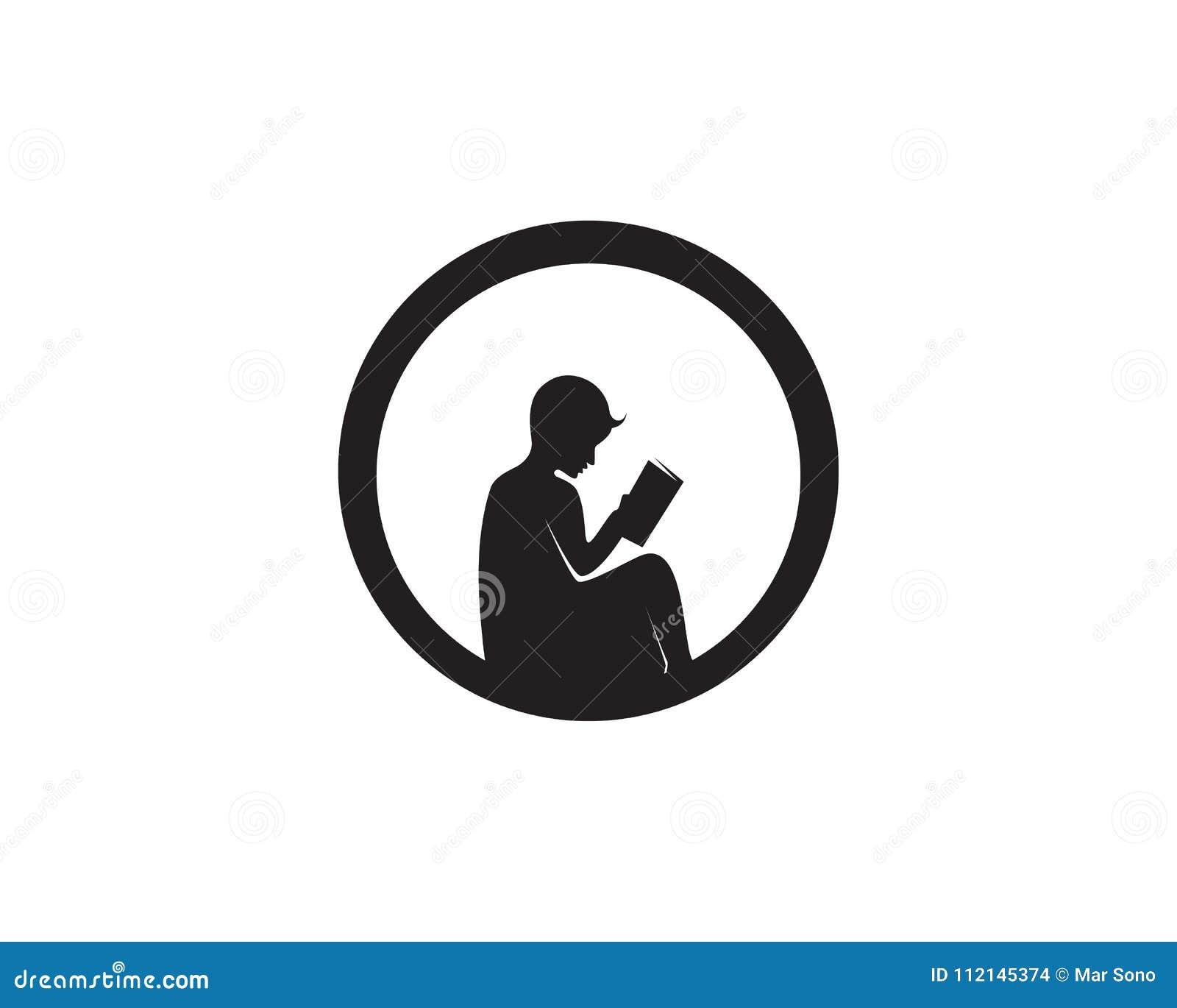 Reading Book Logo And Symbols Silhouette Illustration ...