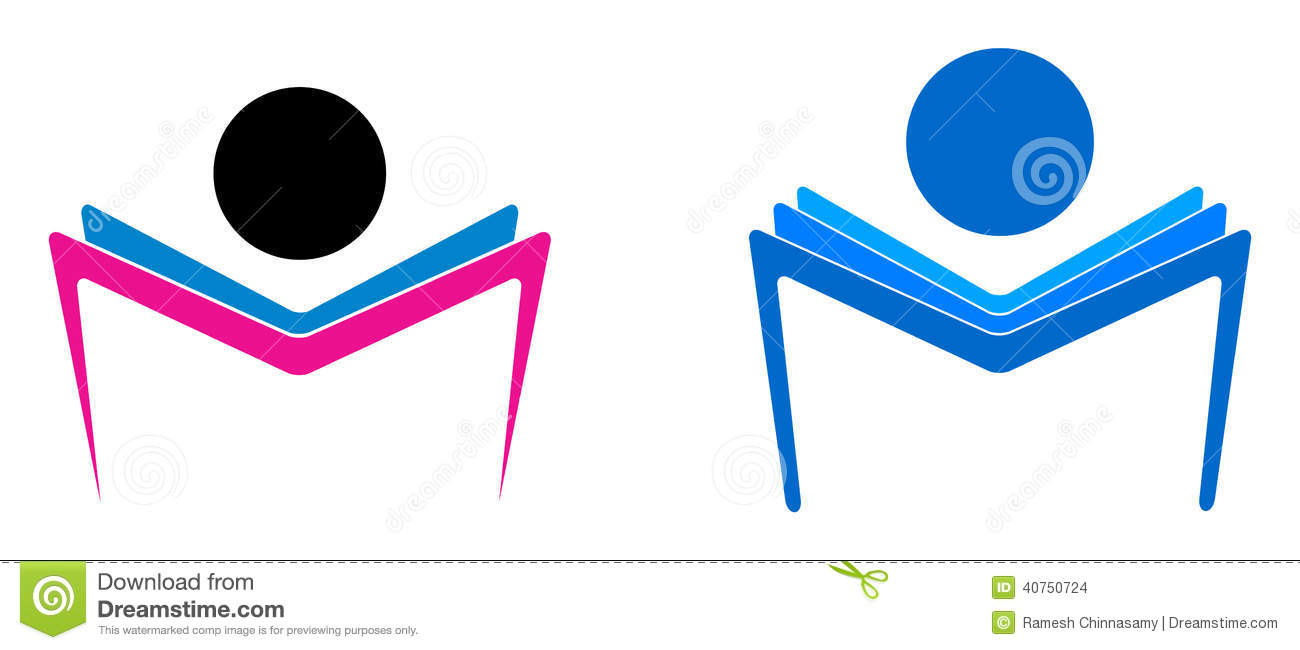 Reading book stock vector image of empty information for Illustration minimaliste