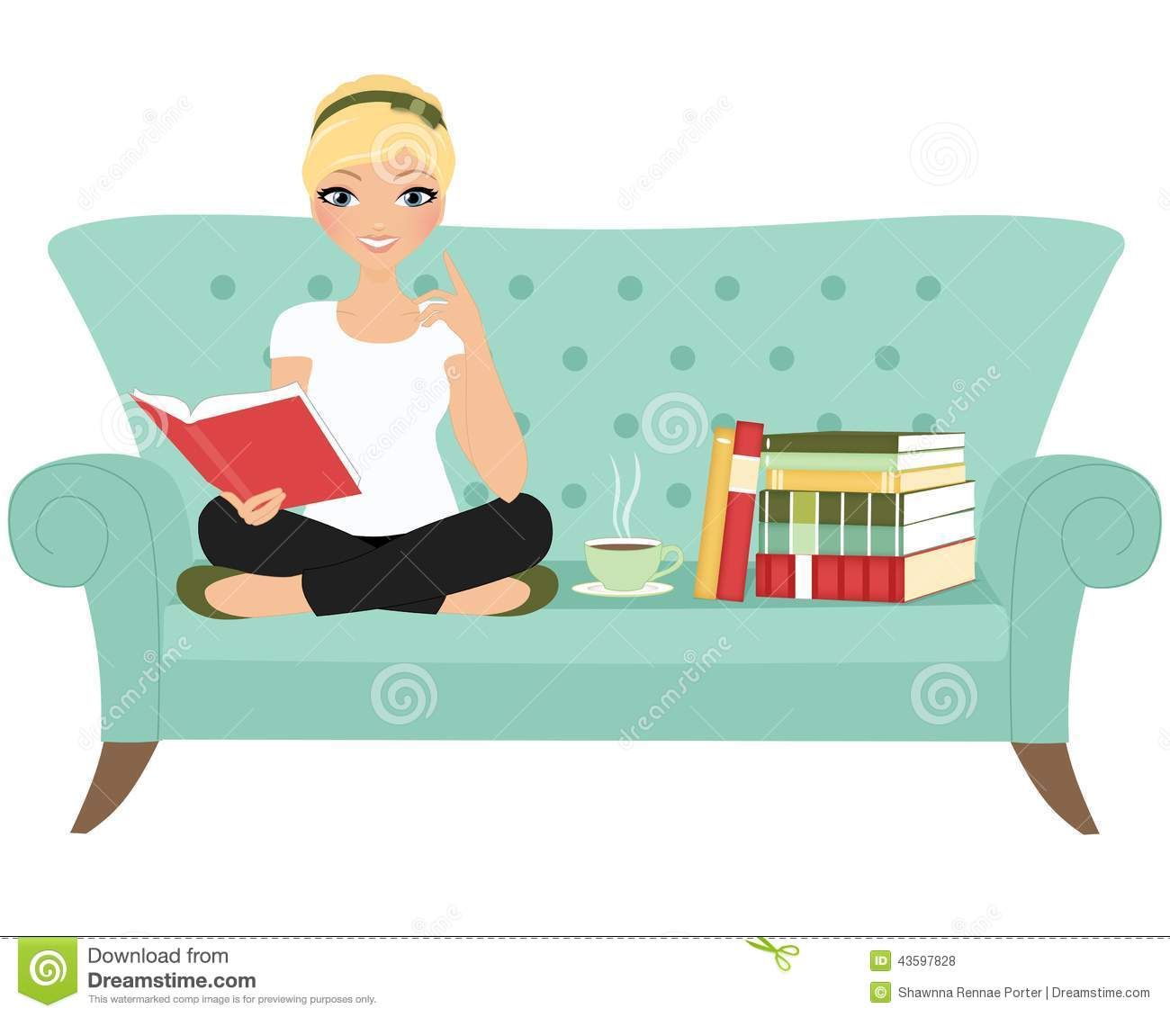 Reading Book Woman Stock Photo Image 43597828