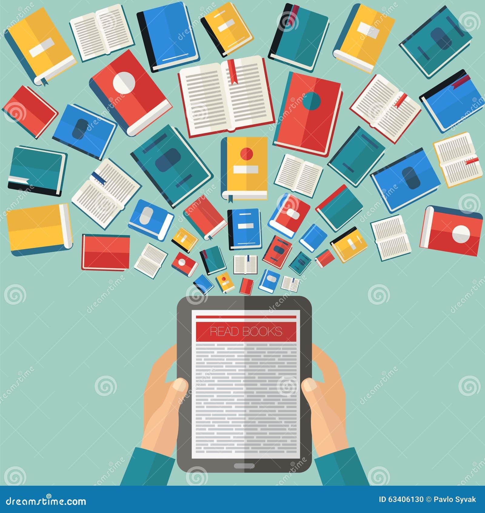 Creative Book Design Vector : Reading books background stock vector image