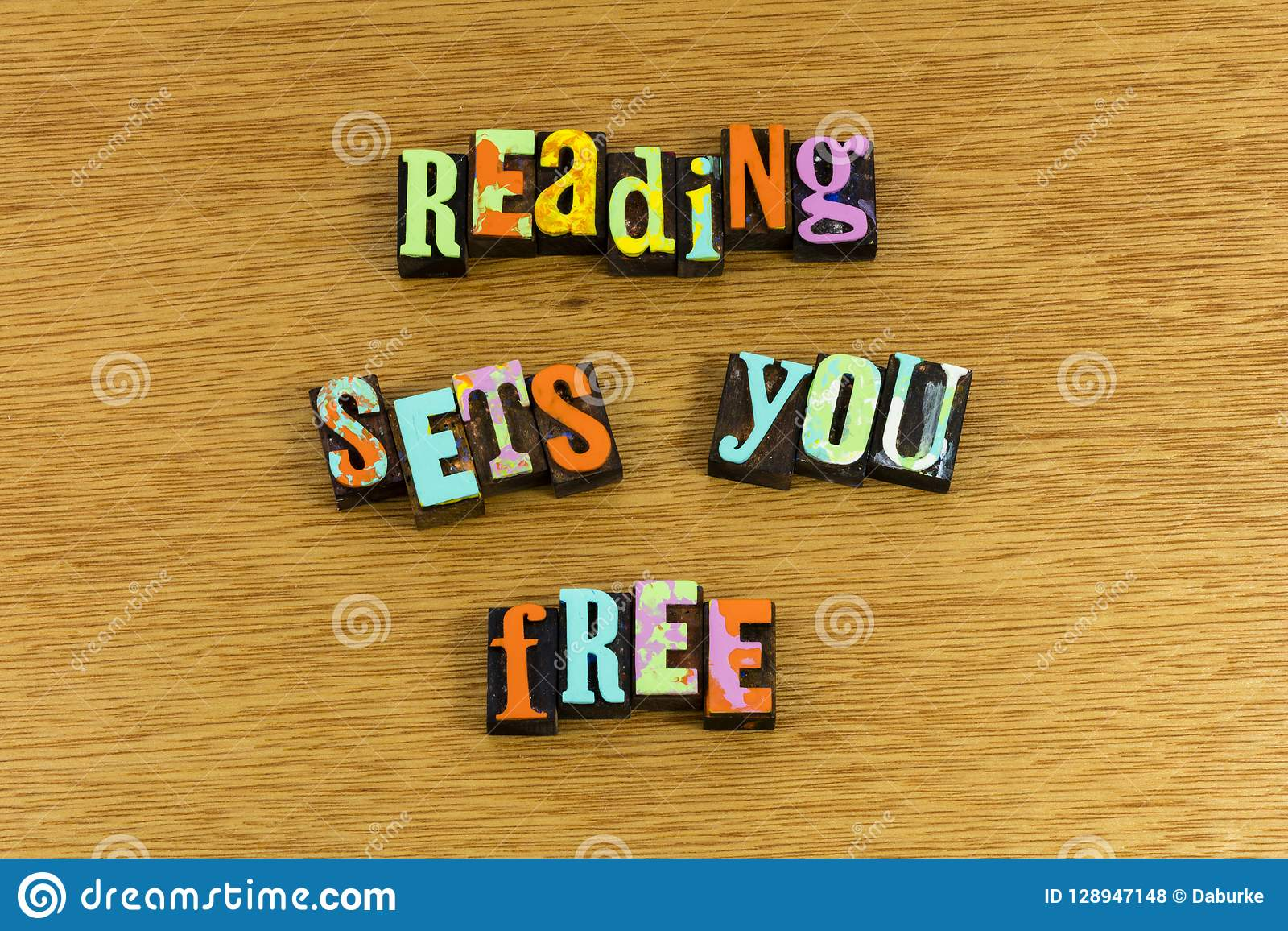 Reading books sets you free