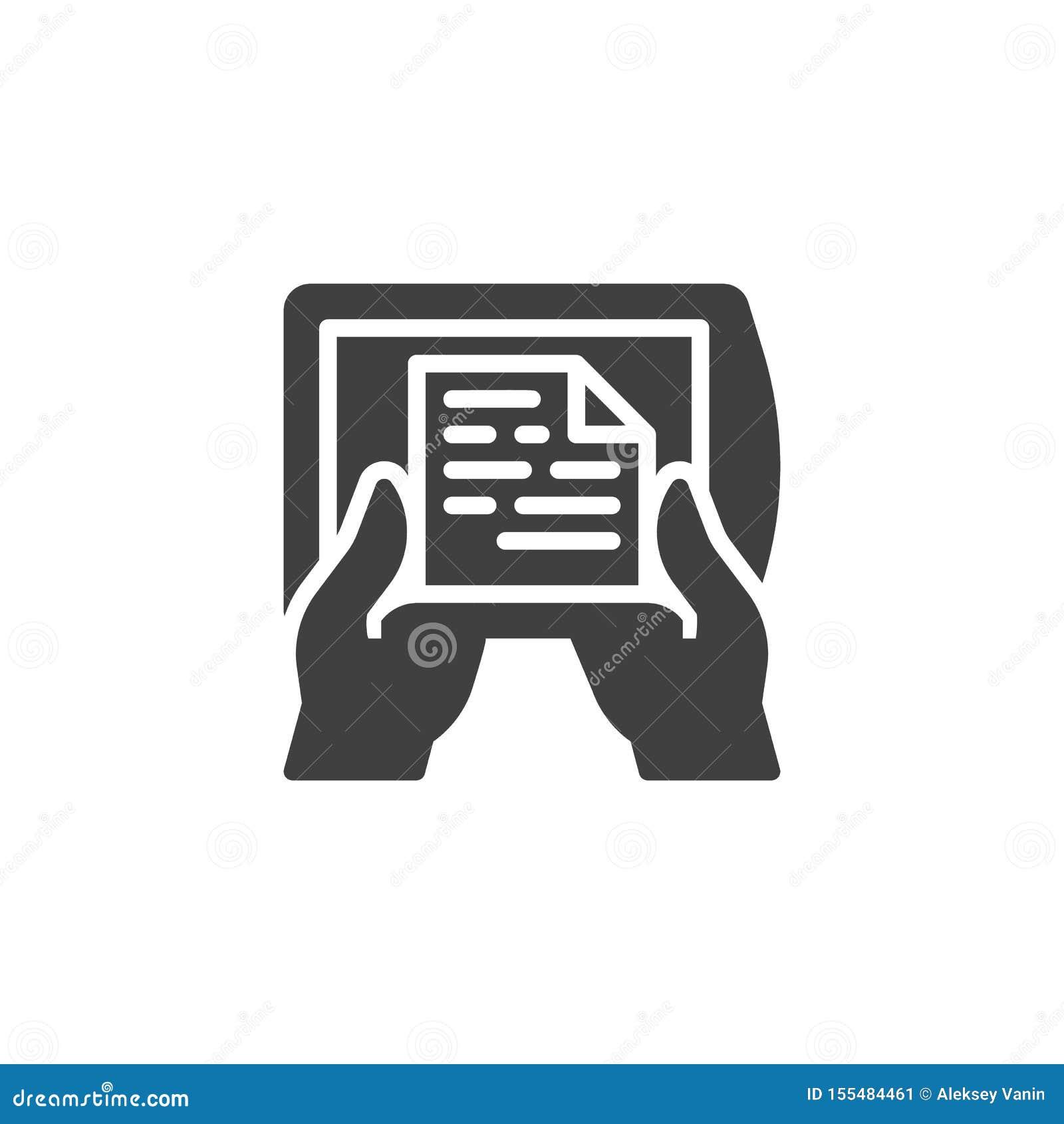 Reading Ebook Device Vector Icon Stock Vector Illustration
