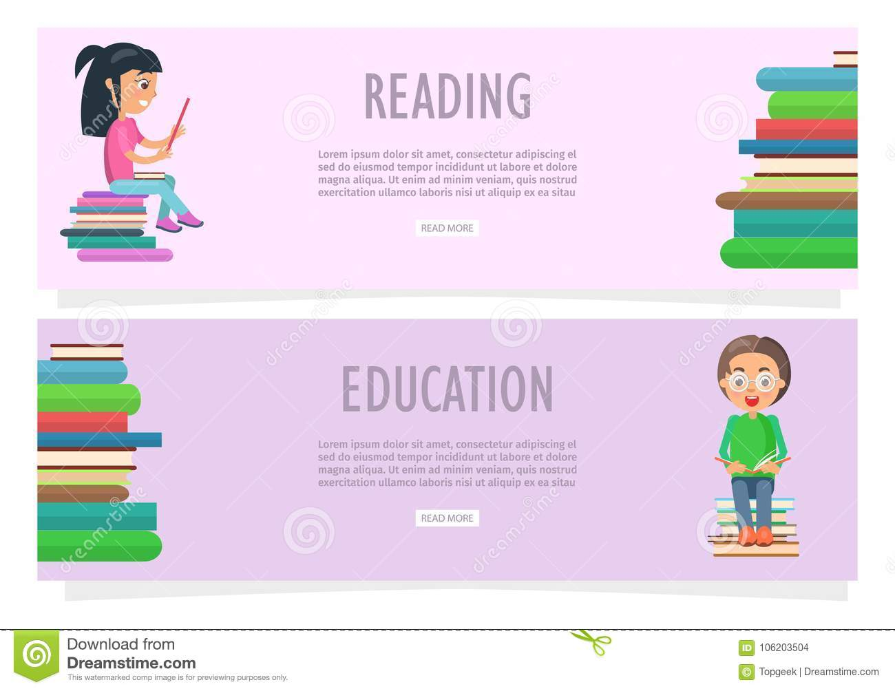 Educational Website Banners Gown Indian Banners