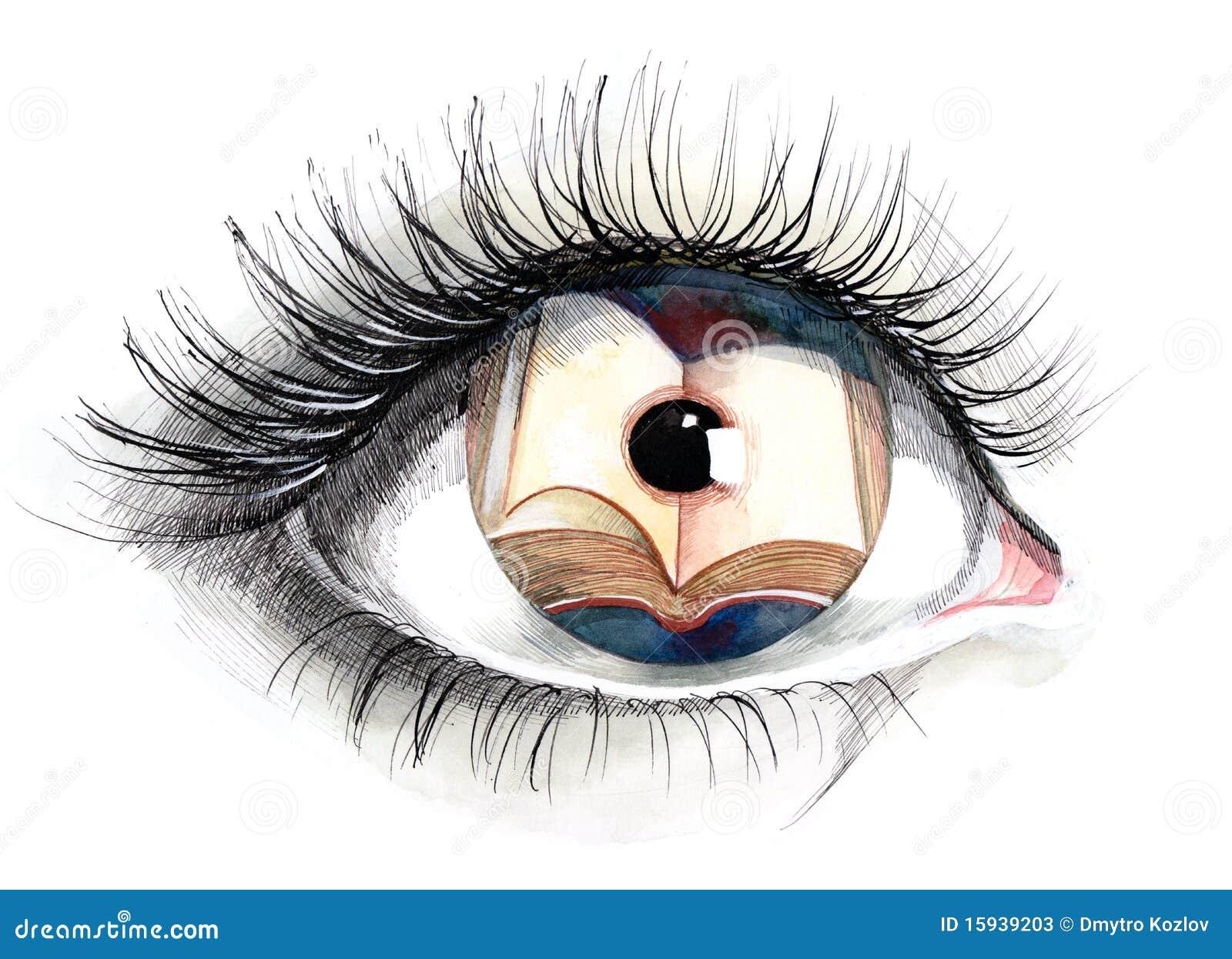 Reading Eye Series C Stock Illustration Illustration Of Bright