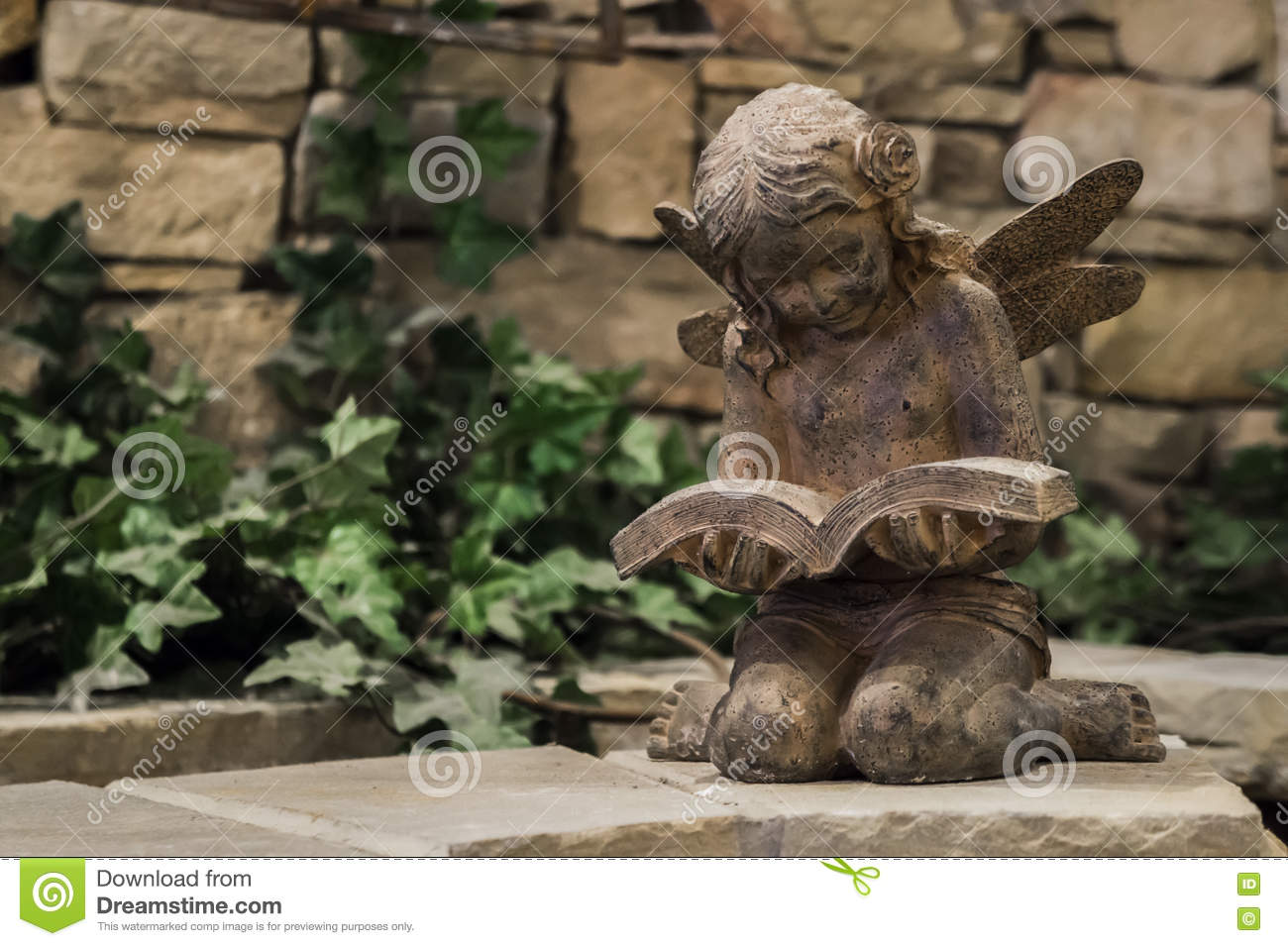 Reading fairy garden statue stock image image 73510597 Reading fairy garden statue