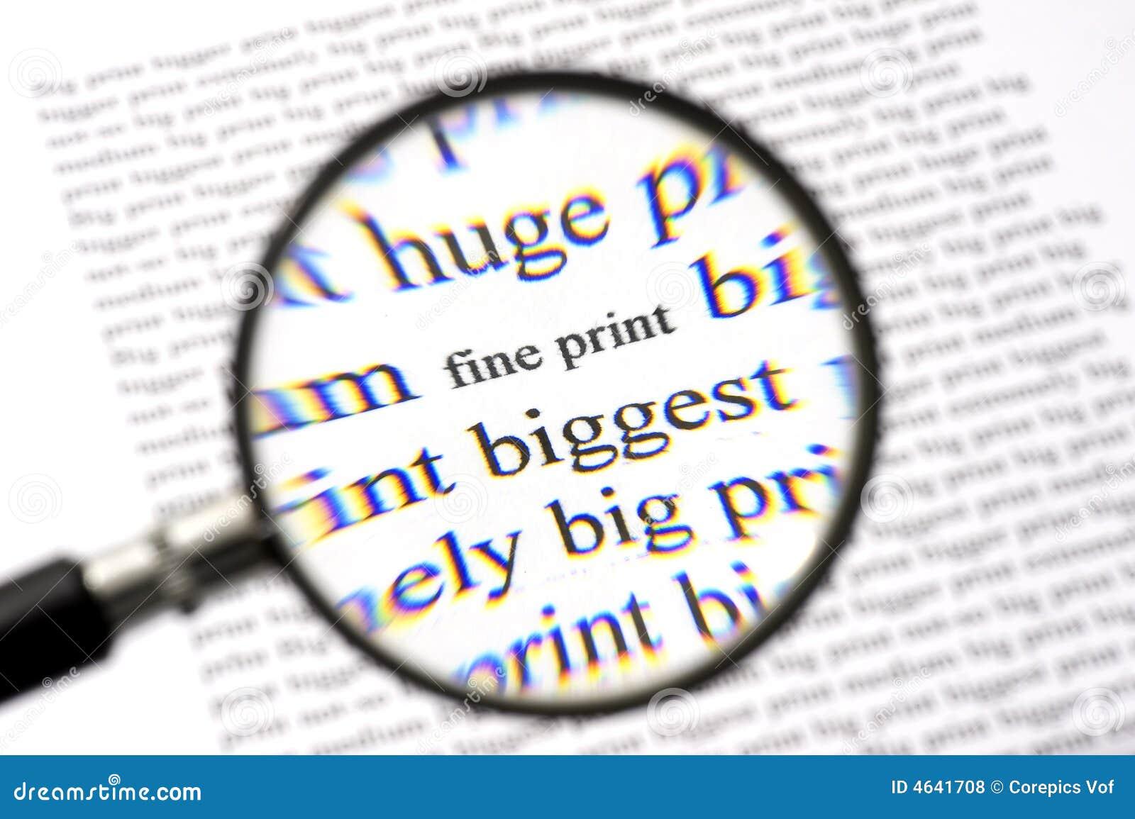 Reading The Fine Print Stock Photo Image Of Aberration