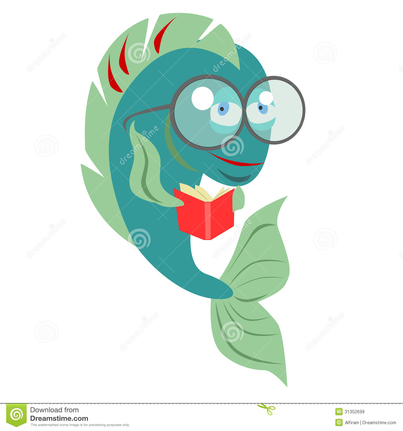Fish Studying Stock Illustrations – 54 Fish Studying Stock ...