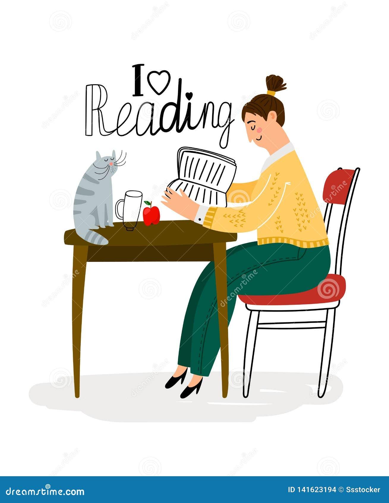 Reading girl icon