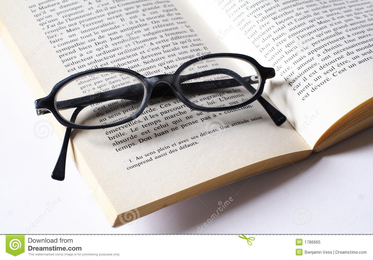 glasses on book - photo #28