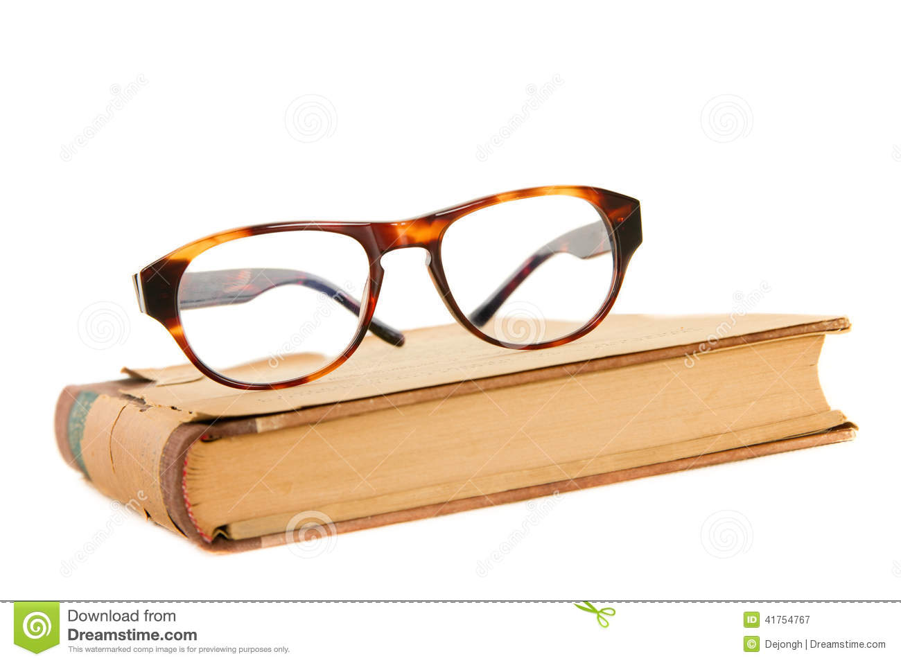 glasses on book - photo #20