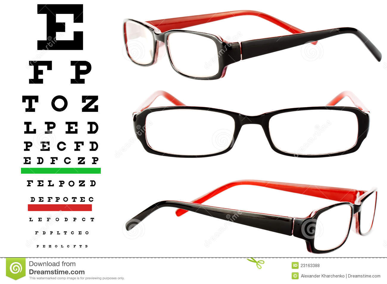 Reading glasses with eye chart stock photo image 23163388 reading glasses with eye chart nvjuhfo Image collections