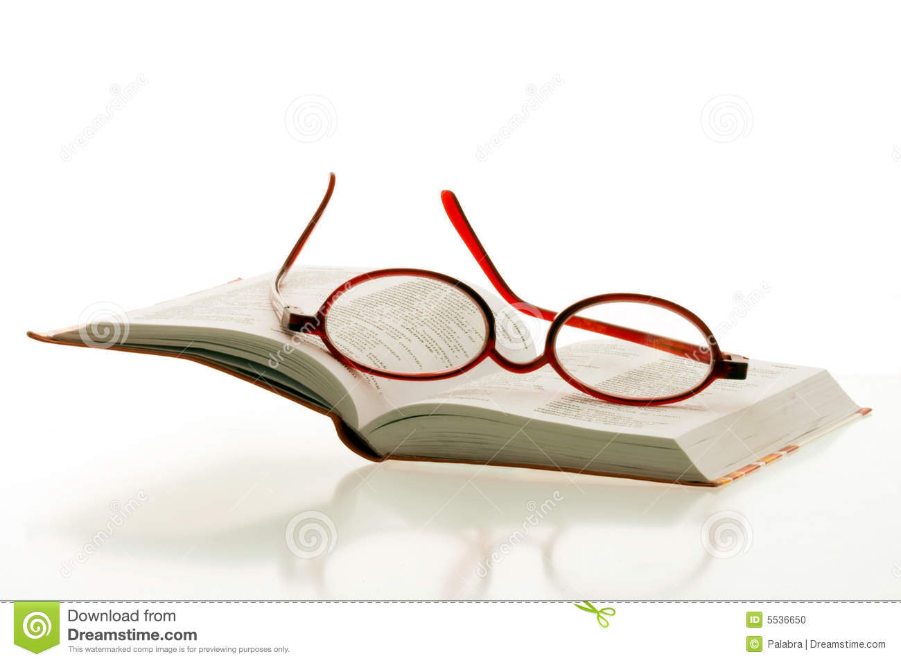 glasses on book - photo #29