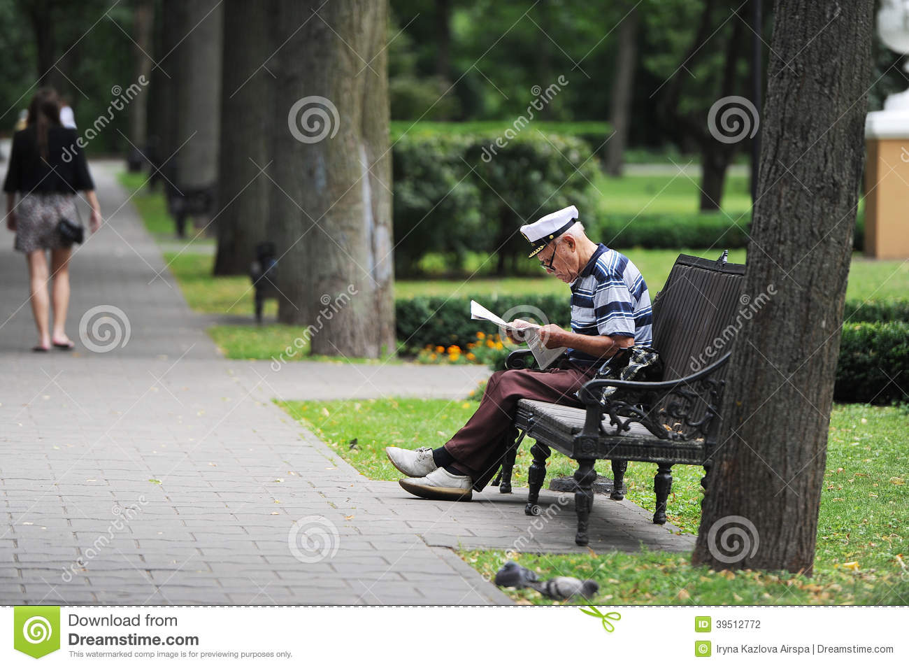 The reading grandfather