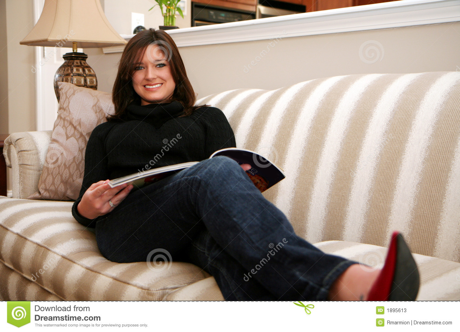 reading a magazine stock photos image 1895613. Black Bedroom Furniture Sets. Home Design Ideas
