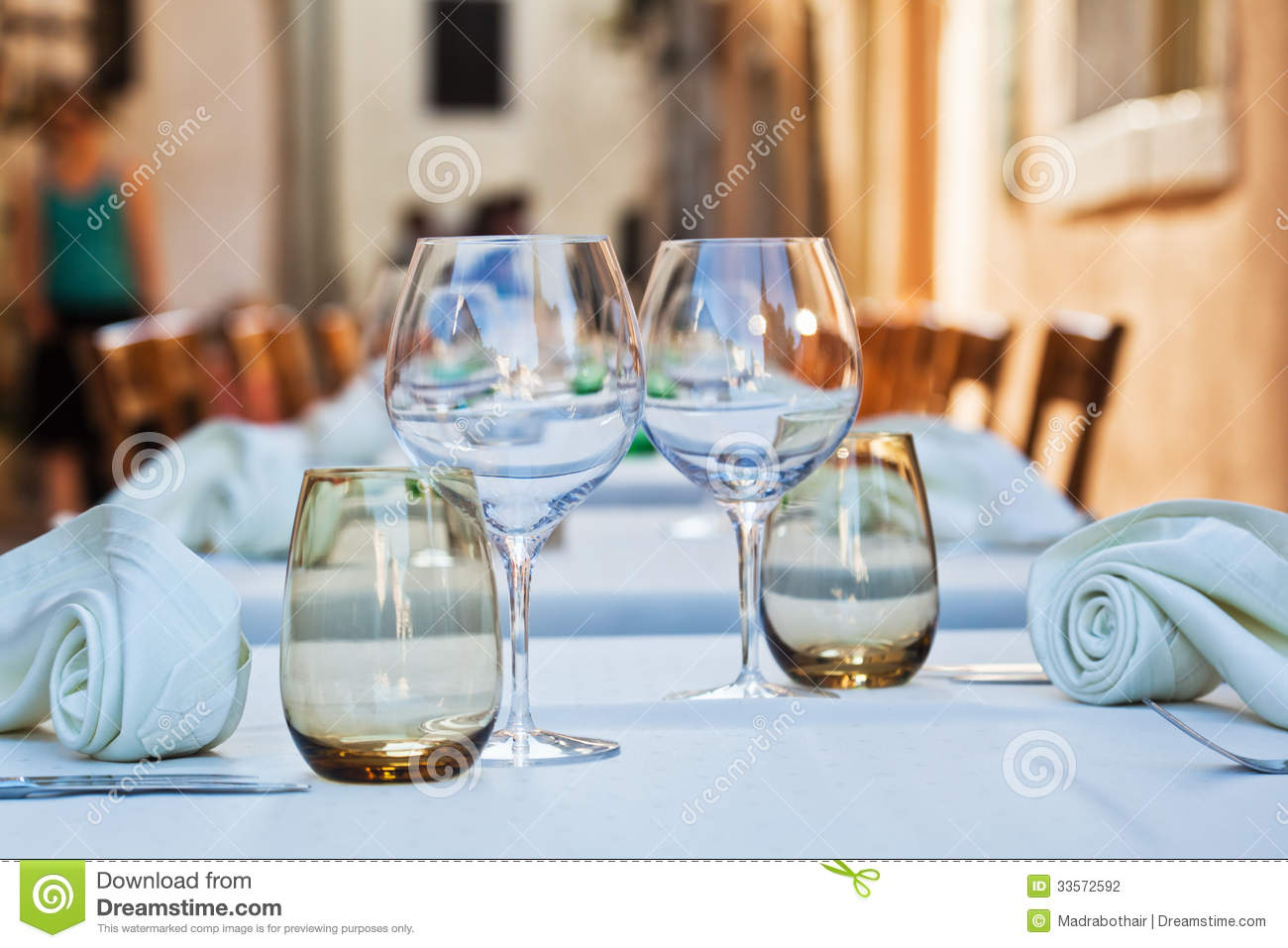Ready laid table of a restaurant stock photography image for Table table restaurants locations