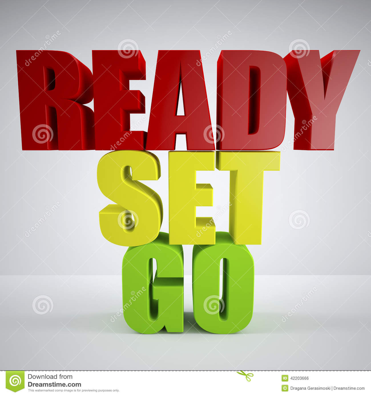 Ready set go stock illustration image 42203666 for Ready to go images