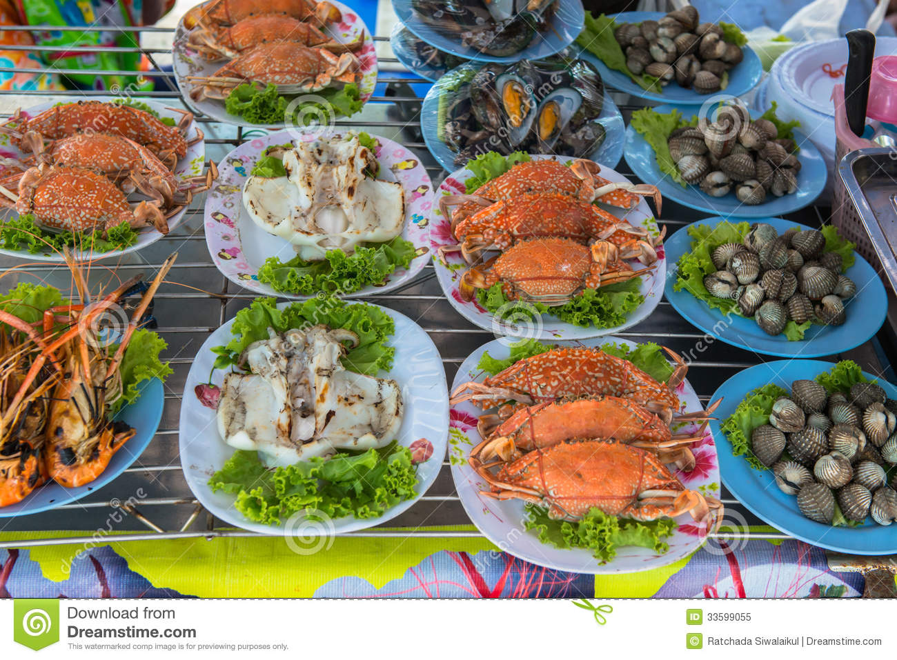 Ready To Eat Seafood Royalty Free Stock Photo - Image ...