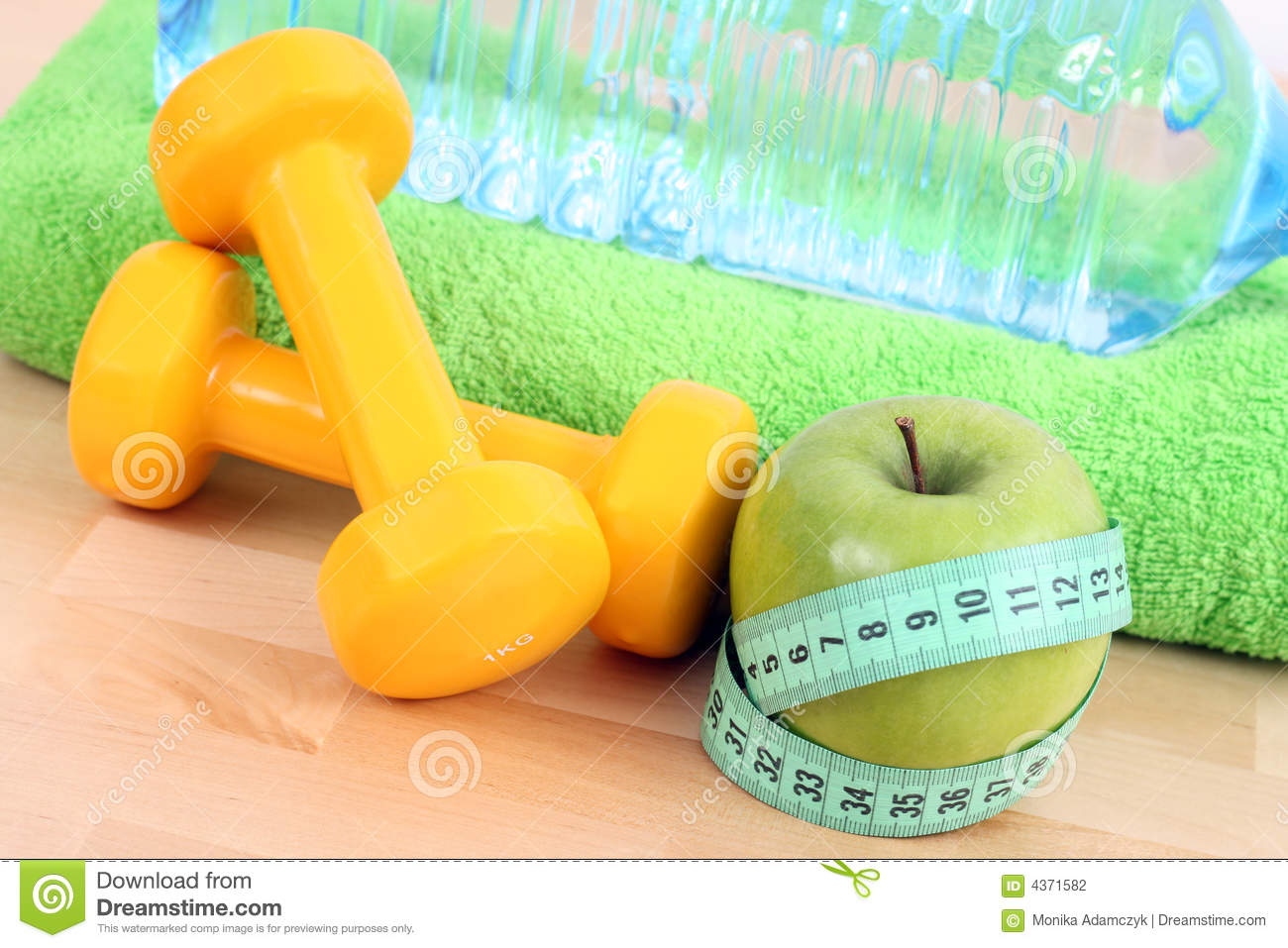 Ready to fitness stock photography image