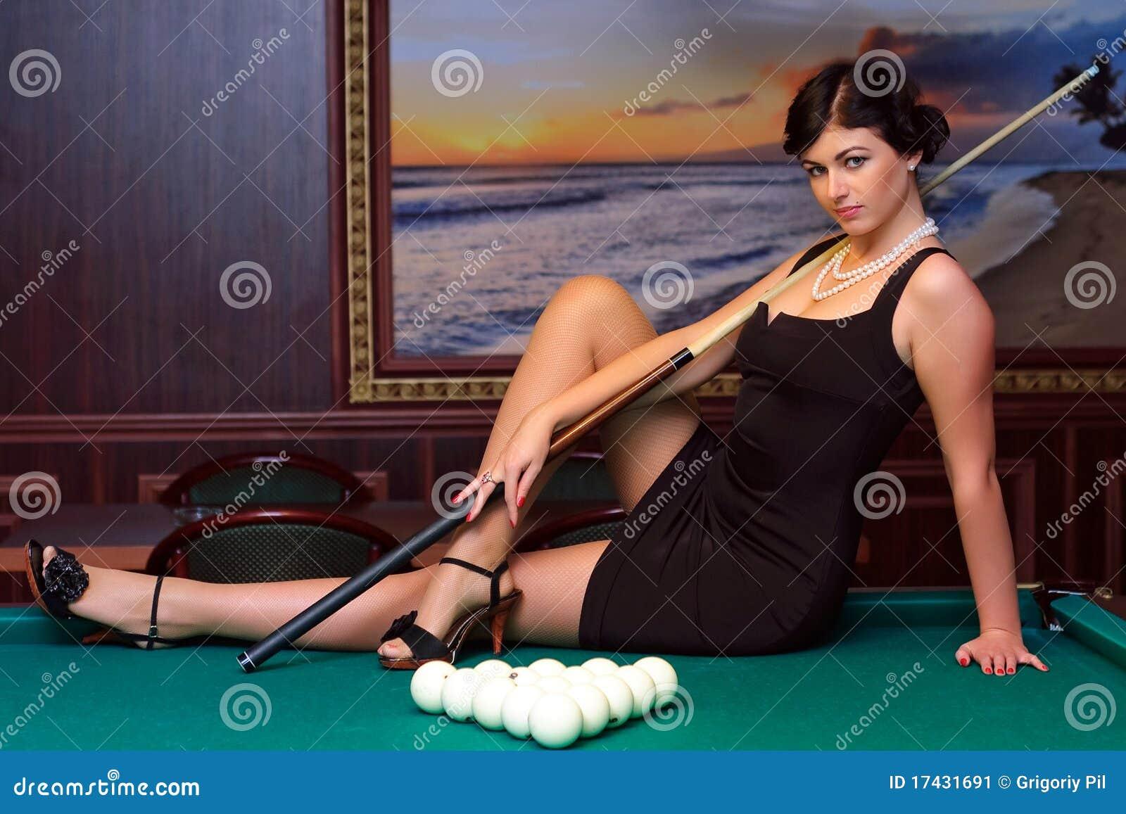 Ready to play billiards.