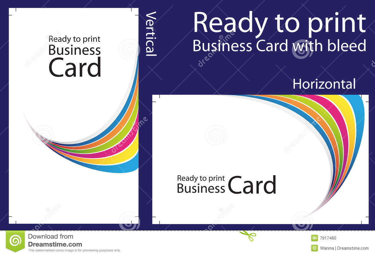 Ready To Print Business Card Stock Image
