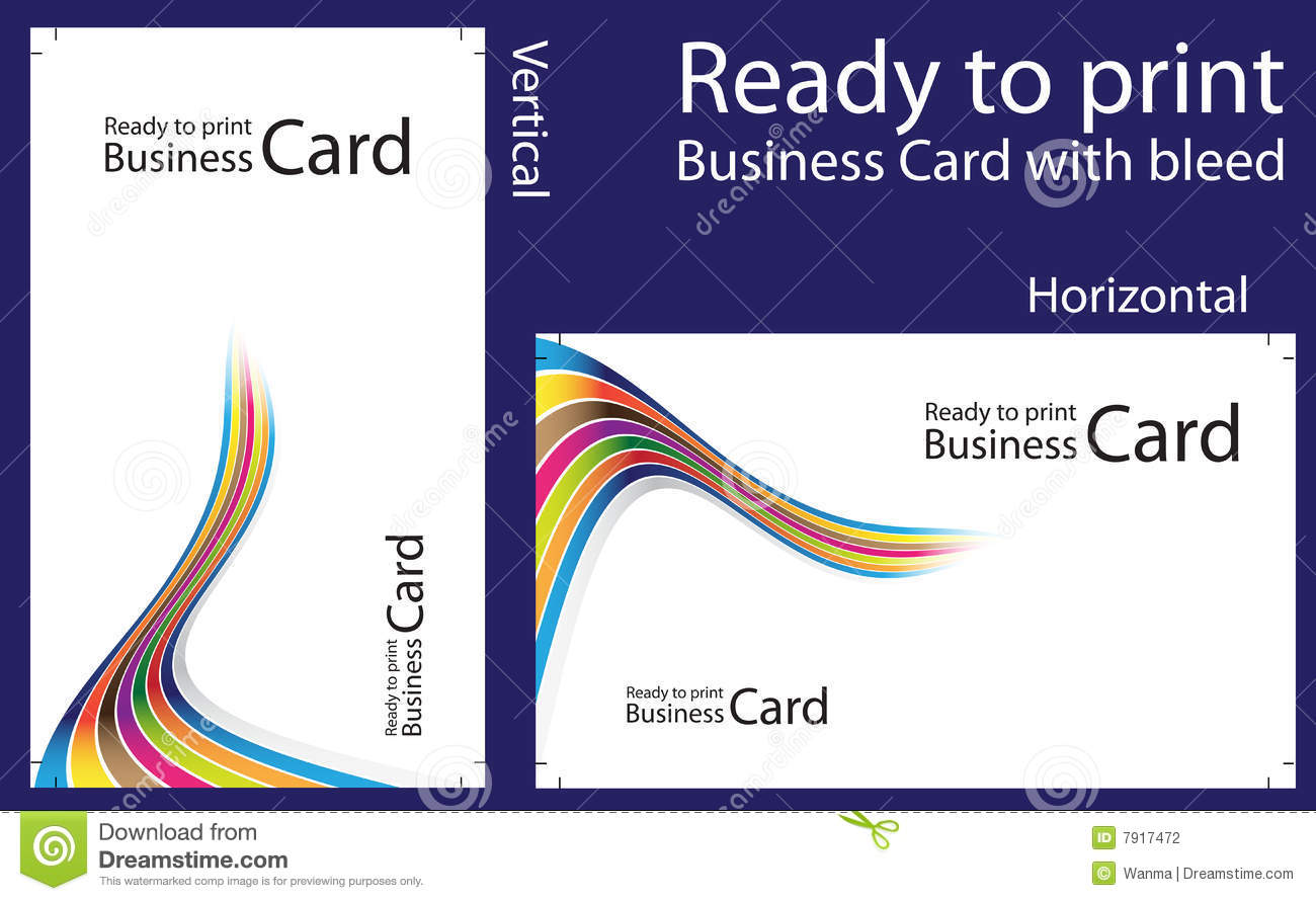 Ready To Print Business Card Stock graphy Image