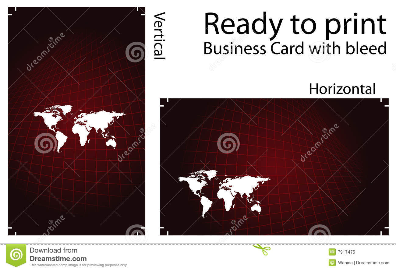 Ready To Print Business Card Royalty Free Stock