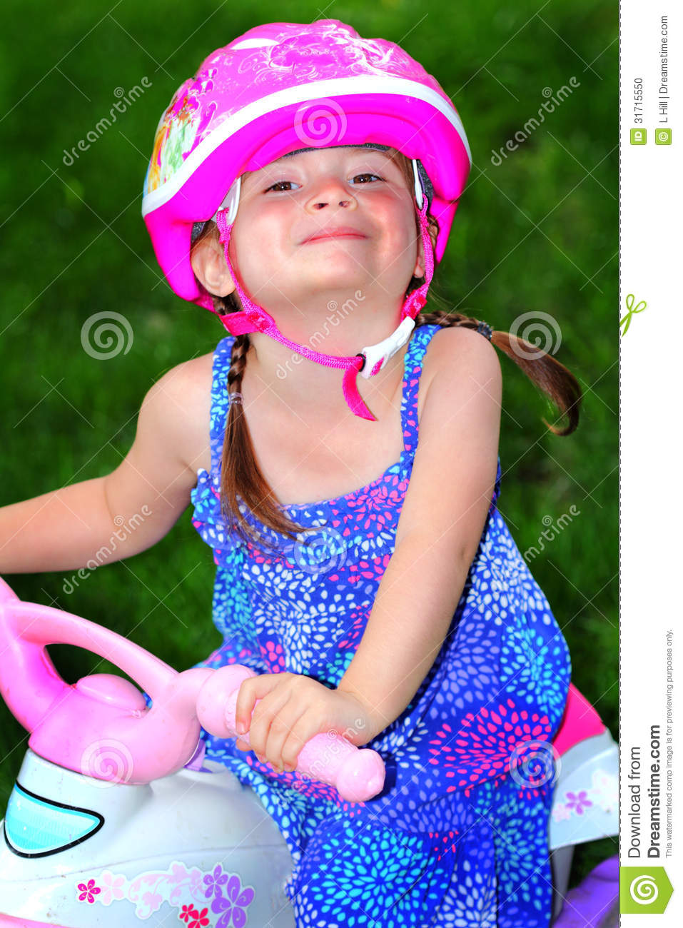Ready To Ride Stock Photo Image Of Preschooler Prissy