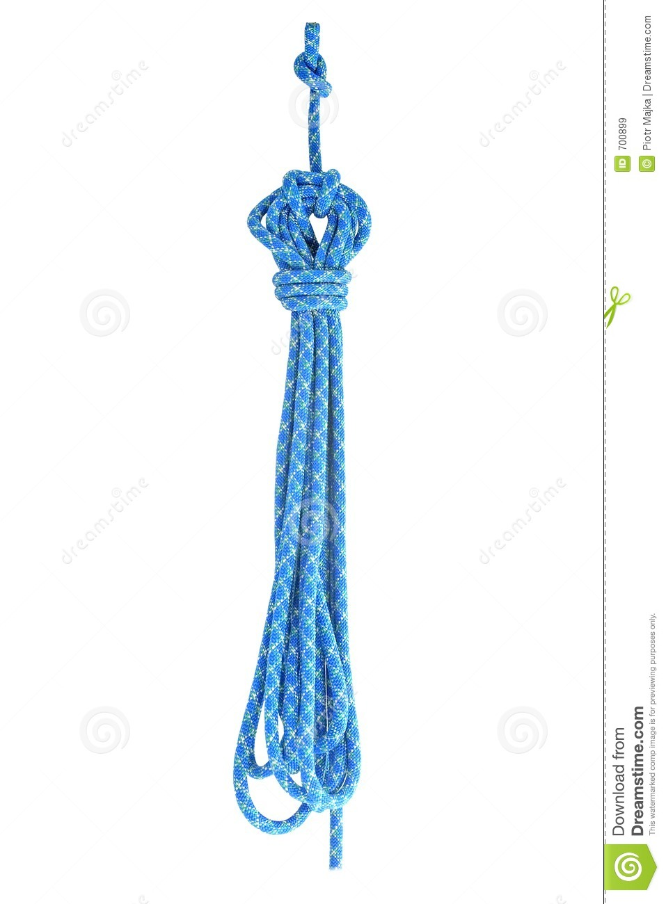 Ready to use blue rope
