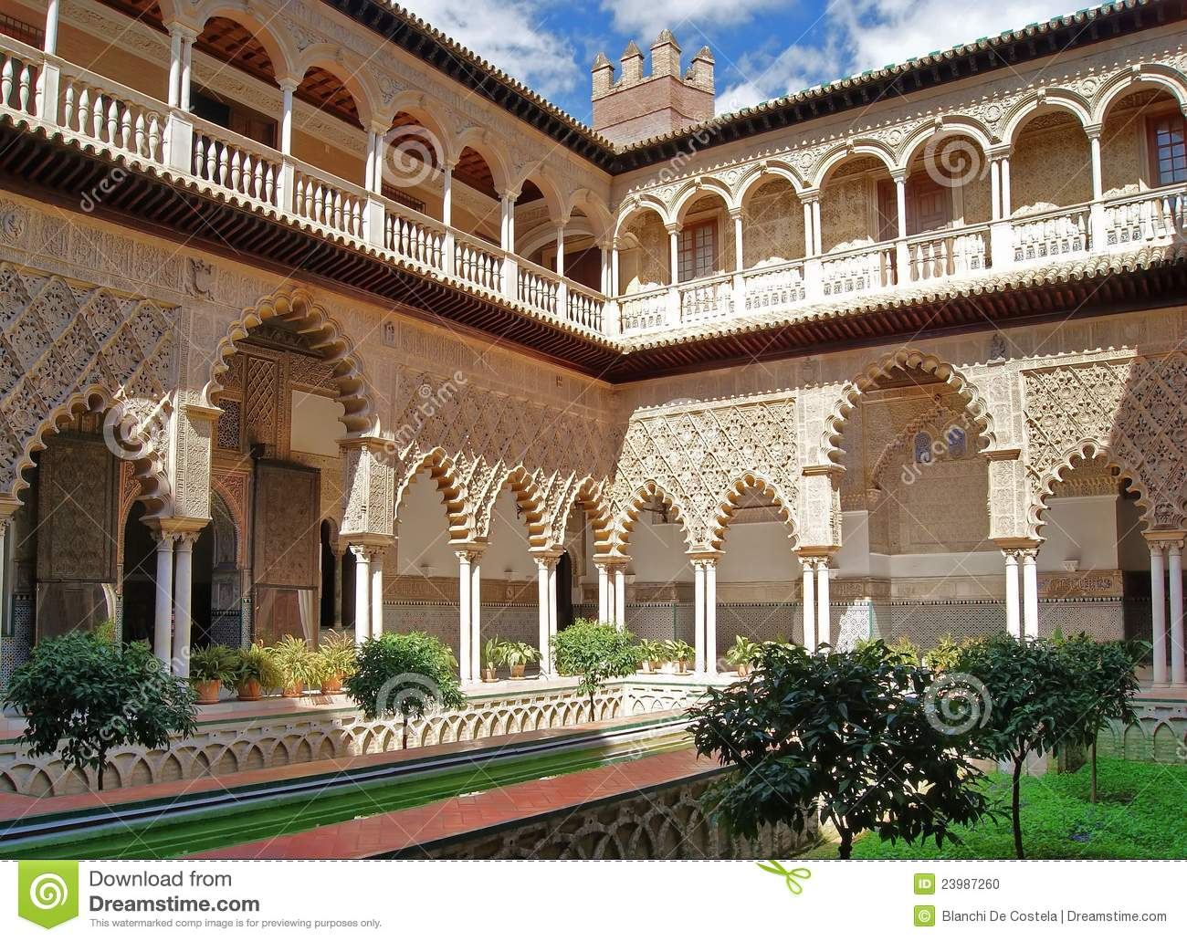 Real Alcazar Of Seville Stock Photo - Image: 23987260