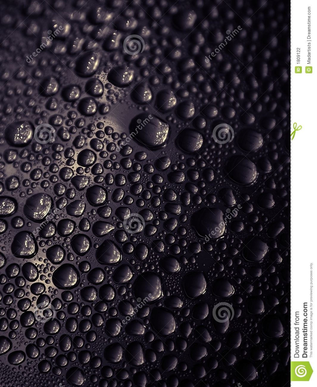 Real Black Water Drops Texture