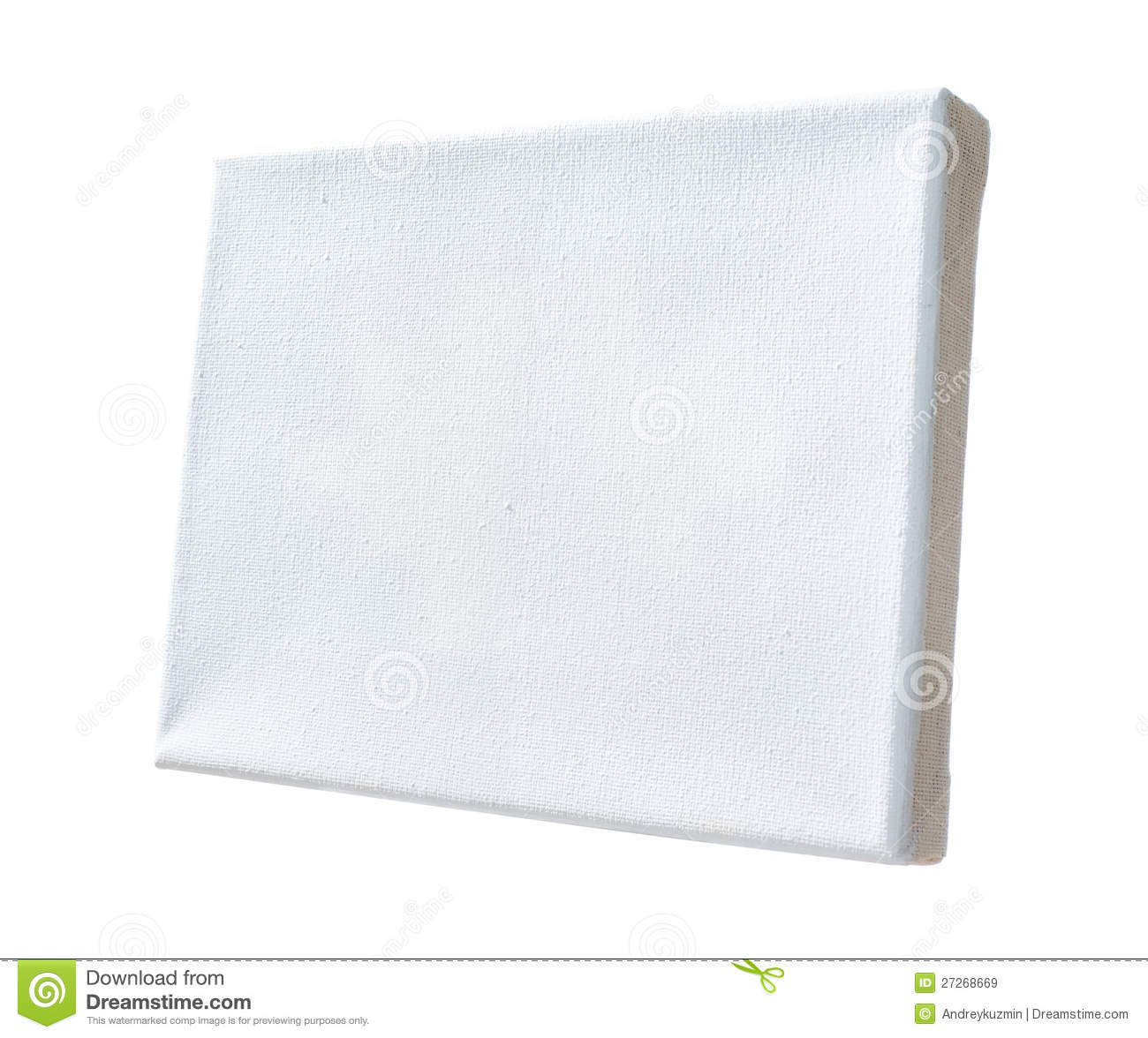 Real Canvas Stretched On Wooden Frame Isolated Stock Image - Image ...