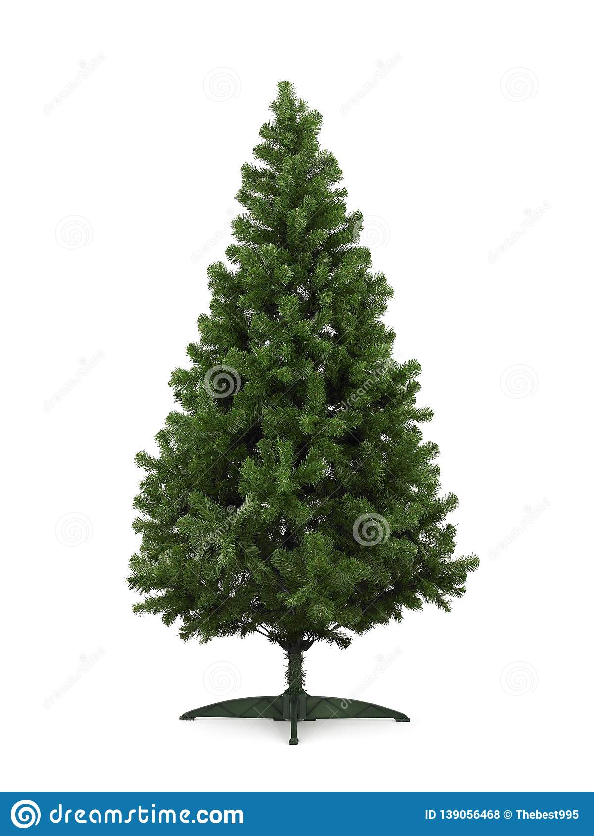 Real Christmas Tree, Isolated On White Background Stock ...