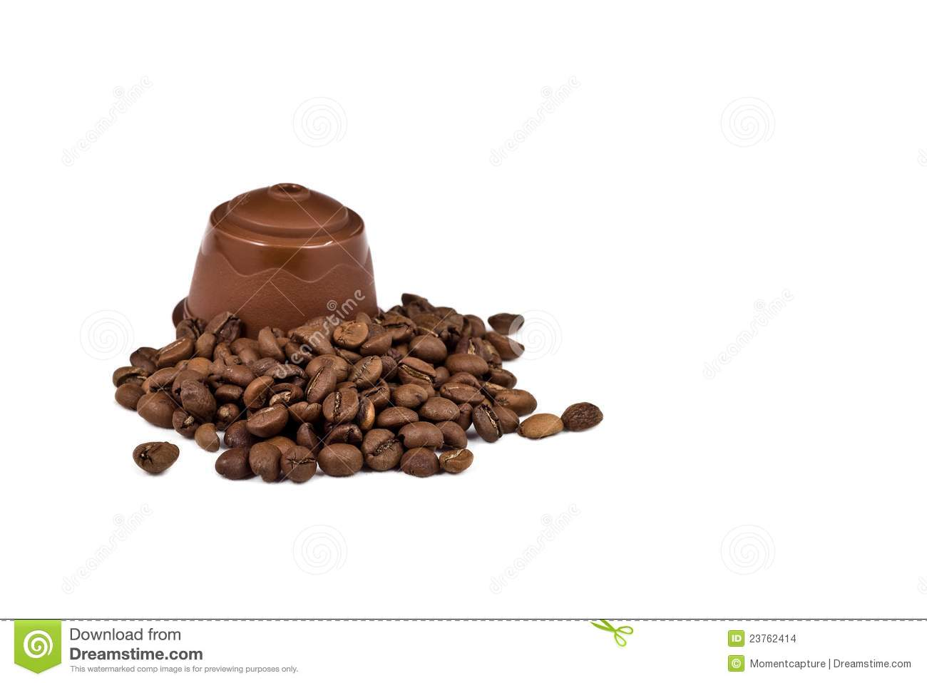 Electronic Real Coffee Machine real coffee and a capsule for machine stock images image machine