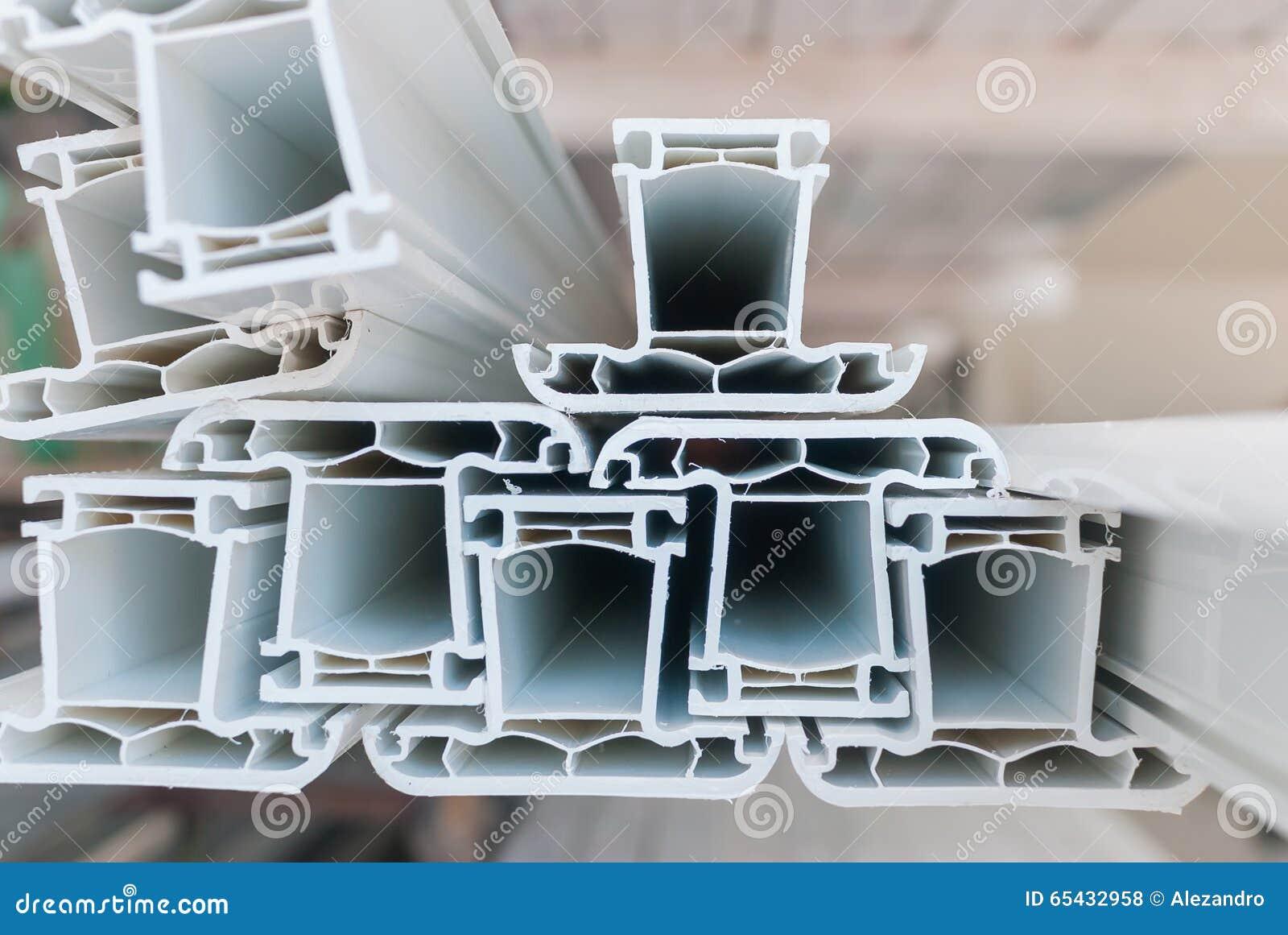Plastic profiles for PVC windows 72