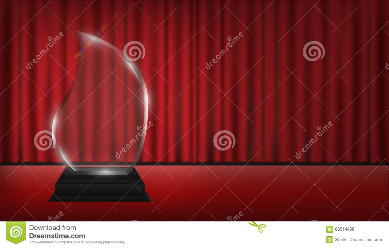 Real theater curtains - Acrylic Background Real Red Stage