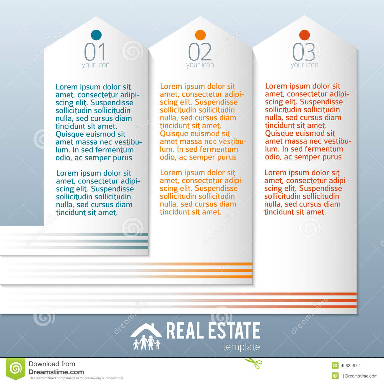 real estate agency ad template stock vector image  real estate agency ad template