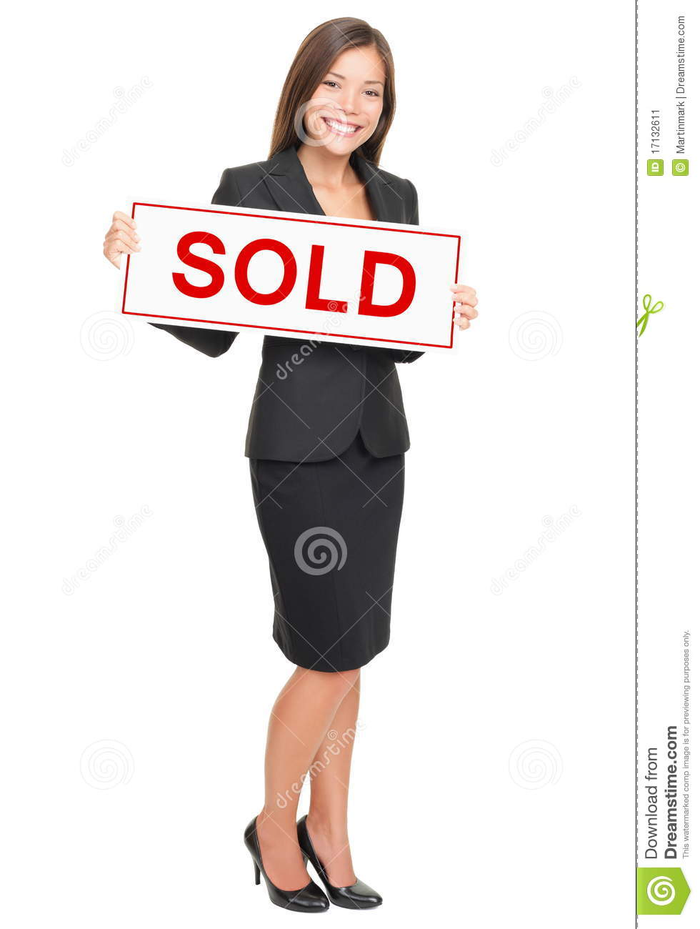 Real Estate Agent Isolated On White Background Stock Image - Image ...