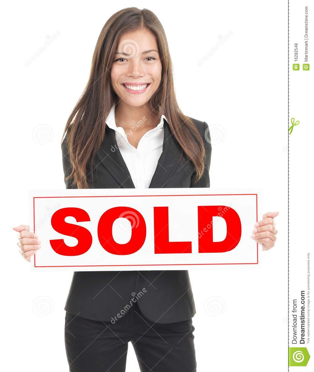real estate agent sign stock photo  image of friendly
